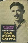 Cover of In Memory Yet Green